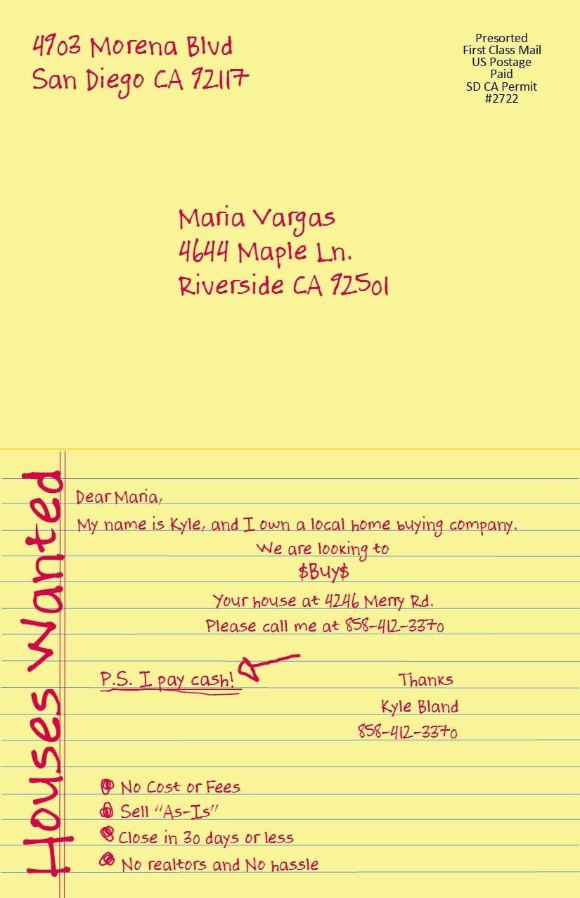 Yellow Letter Postcard
