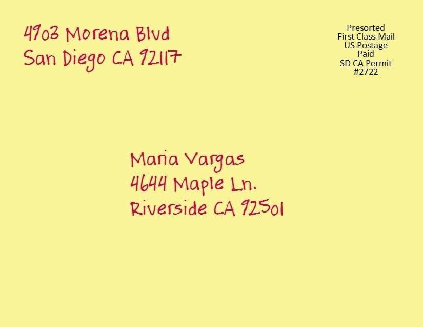 First Class Postcard 4 25 x 5 5 Yellowletterhq