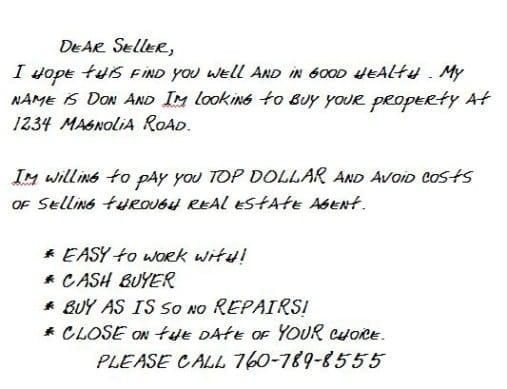 Standard Handwritten Postcard