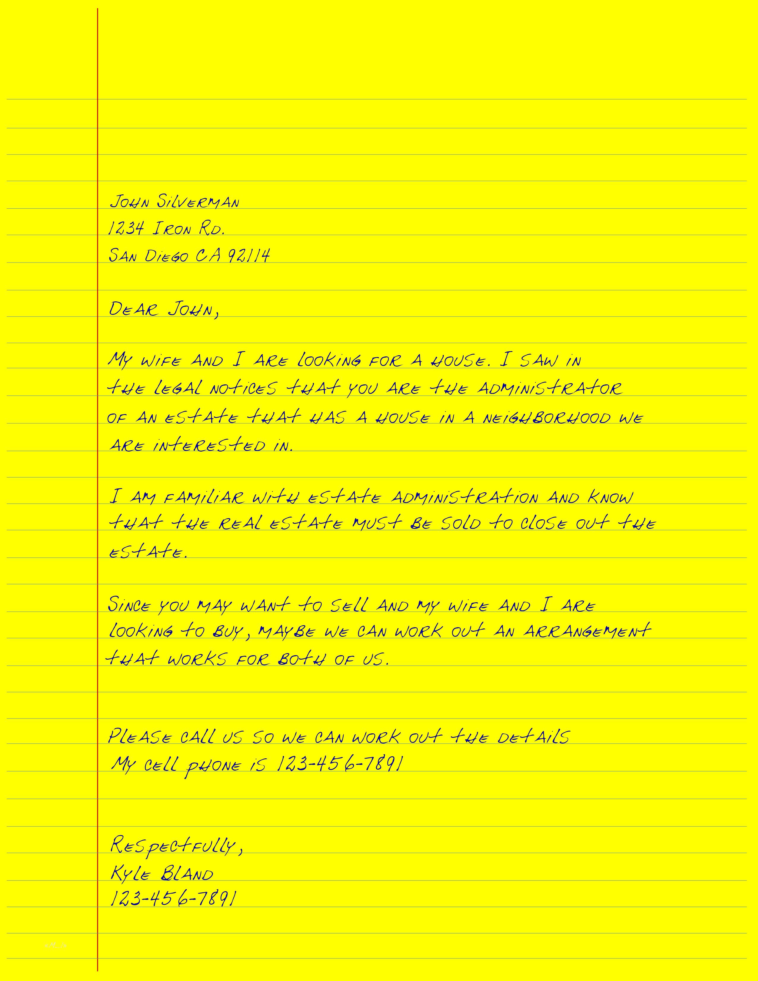 long letter probate