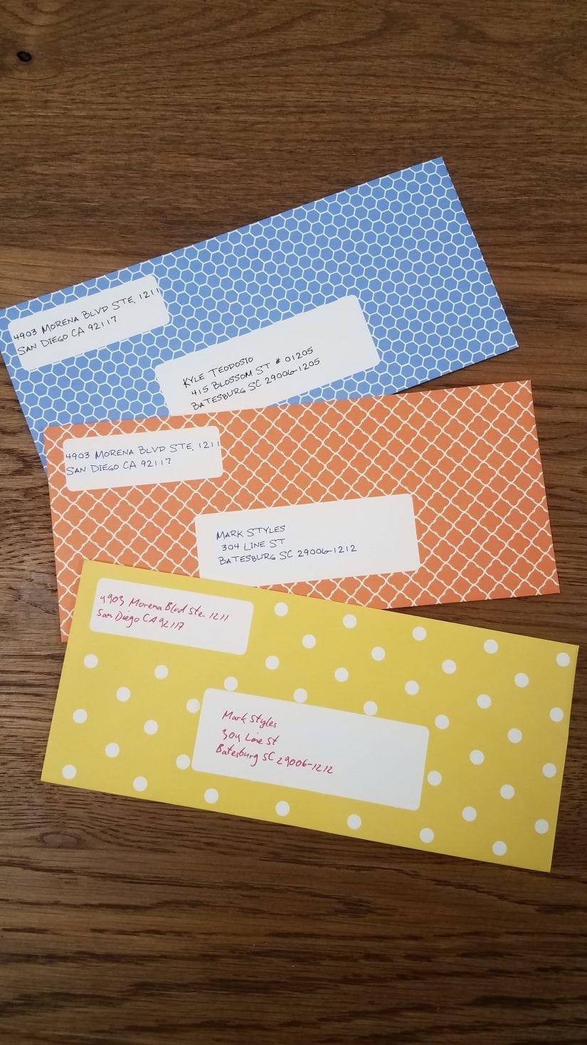 letters and unique envelopes