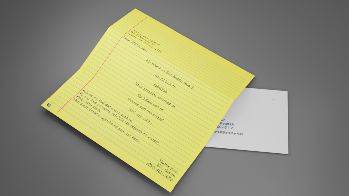 Standard Yellow Letter